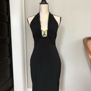 Caché Black Halter Dress